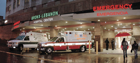 Photo of Emergency Room entrance at night