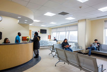 BronxCare Adult Medical Practice reception area.