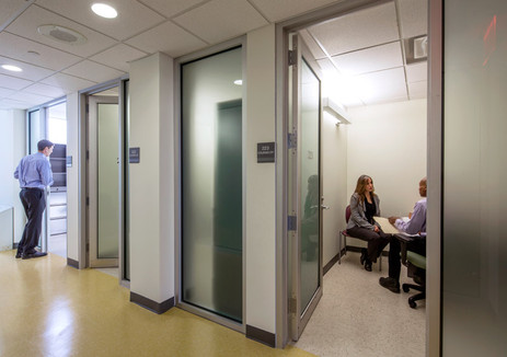 Individual counseling rooms.