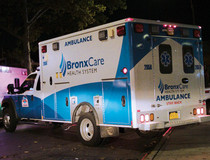 BronxCare ambulance.